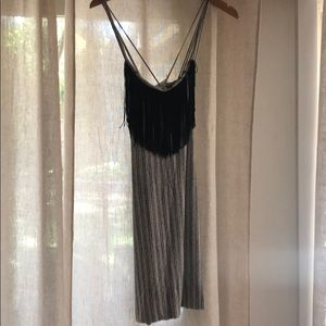 Tart black and white striped dress in size M